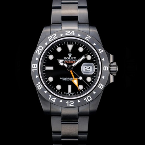 Replica Rolex Explorer Mens Automatic Ion-plated Stainless Steel Case RE005