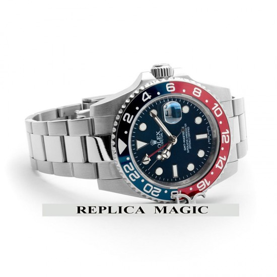 Replica Rolex GMT Master II 116719 BLRO in Blue Dial With Steel Strap