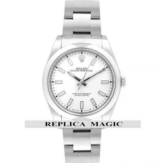 Replica Rolex Oyster Perpetual 39mm 114301 White Dial In Steel