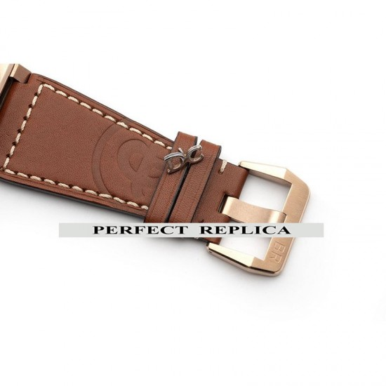Replica Bell & Ross BR 03-92 Diver Black Dial In Rose Gold On Brown Leather Strap