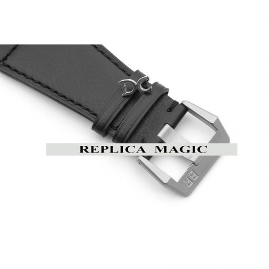 Replica Bell & Ross BR 03-92 Horograph Black Dial In Steel On Leather Strap