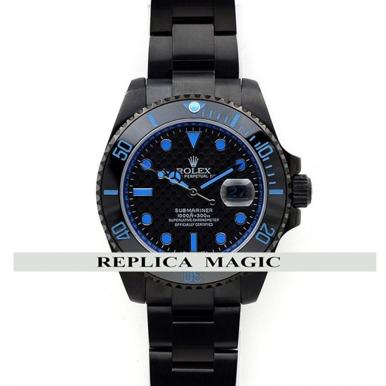 Replica Rolex Submariner Carbon Dial (Blue) In PVD