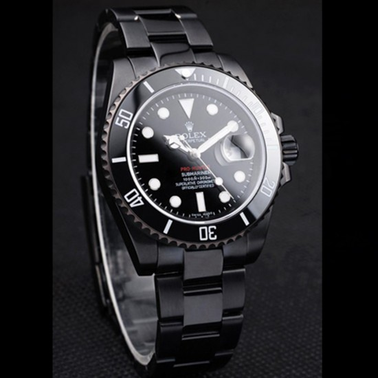 Replica Rolex Submariner Mens Automatic Ion-plated stainless steel RS012